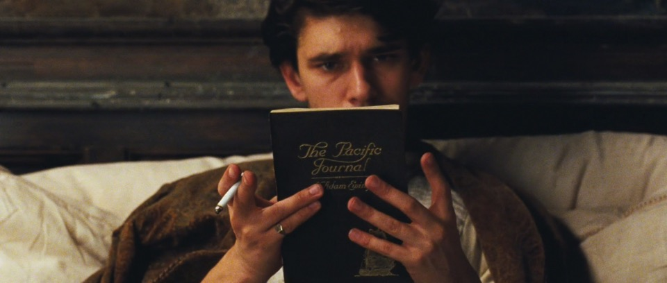 Robert Frobisher (Ben Whishaw) reads 'The Pacific Journal of Adam Ewing' in the Wachowski/Tywker/Wachowski film of Cloud Atlas (2012).