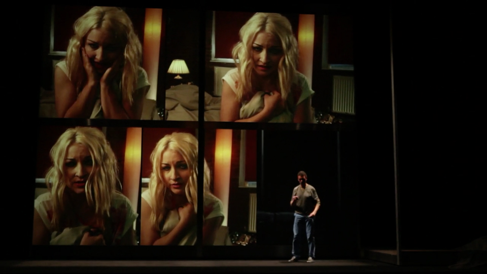 Amber Jacquemain (Kate Miller-Heidke) and Toby Kramer (Roderick Williams) in Sunken Garden (2011-2012), a 3D film-opera by Michel van der Aa with a libretto by the novelist David Mitchell.